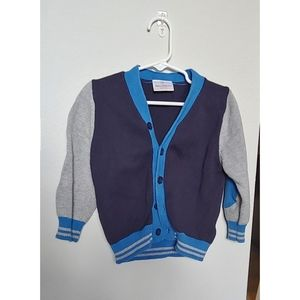 Hanna Andersson toddler boys cardigan size 90cm 3T
